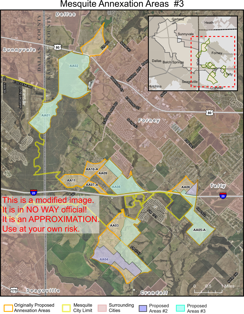 Mesquite Annexation of Kaufman County areas 2017